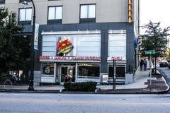 Restaurante do ` s de Johnny Rocket em Atlanta, Geórgia foto de stock