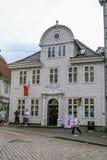 Restaurante do ` s de McDonald do vintage em Bergen, Noruega Imagem de Stock