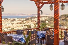 Restaurante do terraço Fotografia de Stock Royalty Free