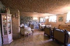 Restaurante do tijolo vermelho foto de stock royalty free