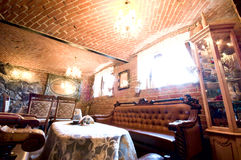 Restaurante do tijolo vermelho imagem de stock royalty free