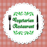 Restaurante do vegetariano Foto de Stock Royalty Free