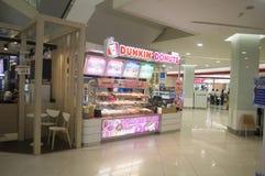 Restaurante dos anéis de espuma de Dunkin em Tailândia Foto de Stock