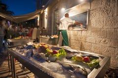Restaurante dos peixes fotografia de stock royalty free