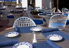 Restaurante e barra ao ar livre do pátio Fotografia de Stock Royalty Free