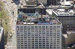 Restaurante e barra em um telhado em New York City Fotos de Stock Royalty Free