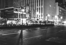 Restaurante e hotel ao longo de Maria Oroza Avenue, Manila, Filipinas Fotos de Stock