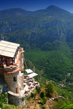 Restaurante em Alpes Maritimes Fotografia de Stock Royalty Free