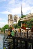 Restaurante em Seine Imagem de Stock