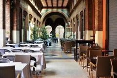 Restaurante en Bolonia Foto de archivo libre de regalías