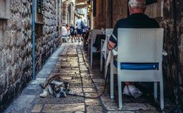 Restaurante en Dubrovnik foto de archivo