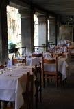 Restaurante en el agua Imagen de archivo libre de regalías