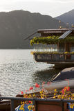 Restaurante en el lago Como Imagen de archivo