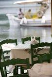 Restaurante en el puerto Imagenes de archivo