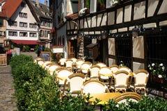 Restaurante en Estrasburgo Imágenes de archivo libres de regalías