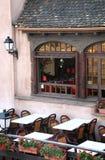 Restaurante en Estrasburgo, Alsacia, Francia Imagen de archivo