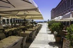 Restaurante en fractura - Croacia Imagenes de archivo