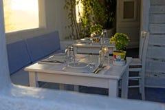 Restaurante en Grecia Foto de archivo libre de regalías