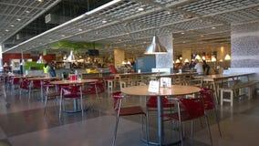 Restaurante en IKEA Imágenes de archivo libres de regalías