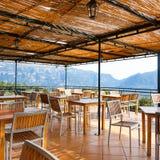 Restaurante en la montaña Imagen de archivo libre de regalías