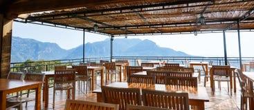Restaurante en la montaña Foto de archivo libre de regalías