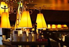 Restaurante en la noche Fotografía de archivo