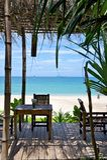 Restaurante en la playa Fotografía de archivo libre de regalías