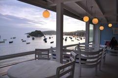 Restaurante en la playa Foto de archivo libre de regalías