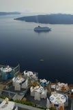 Restaurante en la playa, Oia, Santorini Imagen de archivo libre de regalías