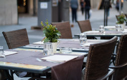 Restaurante en Lecco Imágenes de archivo libres de regalías