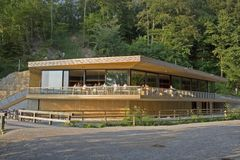 Restaurante en madera Imagen de archivo libre de regalías