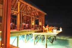 Restaurante en noche Fotografía de archivo