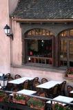 Restaurante en Ponts Couverts Fotografía de archivo libre de regalías