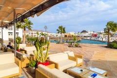 Restaurante en puerto del yate de Rubicon Foto de archivo libre de regalías
