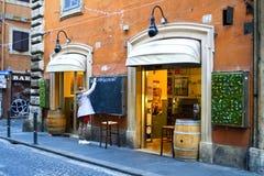 Restaurante en Roma Imagen de archivo libre de regalías