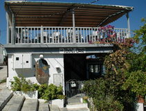 Restaurante en Skiathos, Grecia fotos de archivo libres de regalías