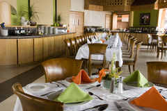 Restaurante en un hotel imagenes de archivo