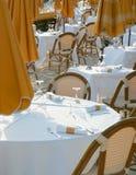Restaurante en una playa Foto de archivo libre de regalías