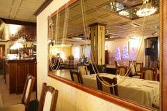 Restaurante europeo en colores amarillos Imagen de archivo