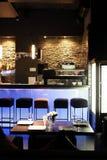 Restaurante europeu em cores brilhantes foto de stock royalty free