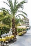 Restaurante exterior em Barcelona foto de stock