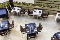 Restaurante exterior em Barcelona fotografia de stock
