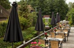 Restaurante exterior em Giethoorn de Países Baixos imagens de stock royalty free