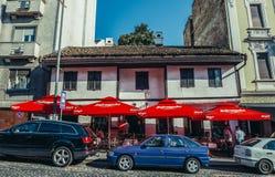 Restaurante famoso en Belgrado Fotografía de archivo libre de regalías