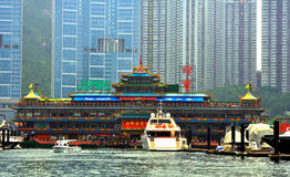 Restaurante flotante enorme, Hong-Kong Imagen de archivo libre de regalías