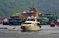 Restaurante flotante enorme, Hong-Kong Imagenes de archivo