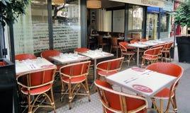 Restaurante francés imagen de archivo libre de regalías
