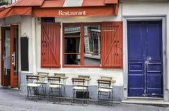 Restaurante francês Imagem de Stock Royalty Free