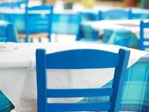 Restaurante griego típico Fotografía de archivo
