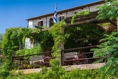 Restaurante griego tradicional Imagen de archivo libre de regalías